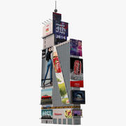 One Times Square HD 3d model