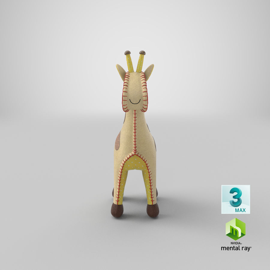 Fylld giraff royalty-free 3d model - Preview no. 23