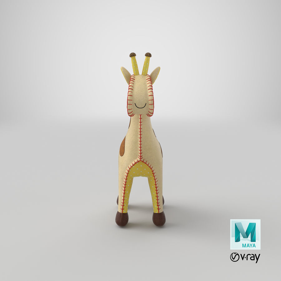 Fylld giraff royalty-free 3d model - Preview no. 20