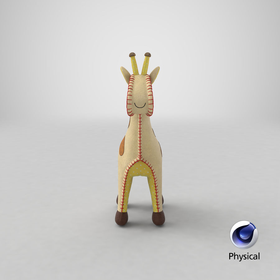 Fylld giraff royalty-free 3d model - Preview no. 24