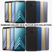 Samsung Galaxy A6 & A6 Plus 2018 Collection 3d model