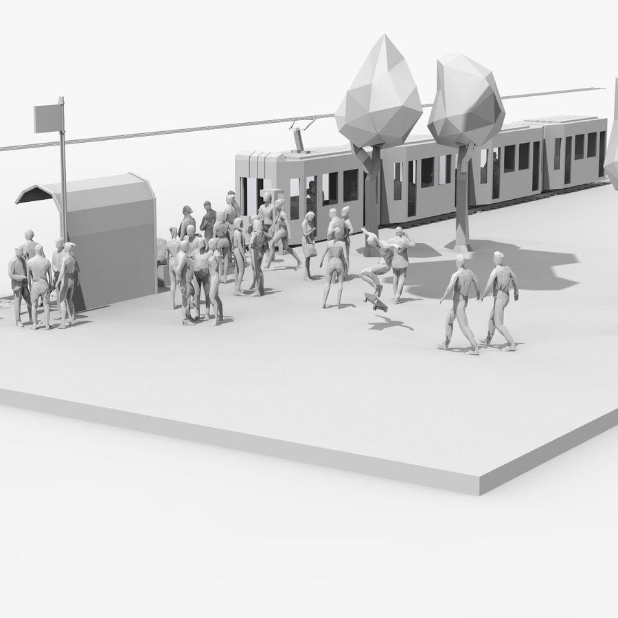 低ポリシーン royalty-free 3d model - Preview no. 10