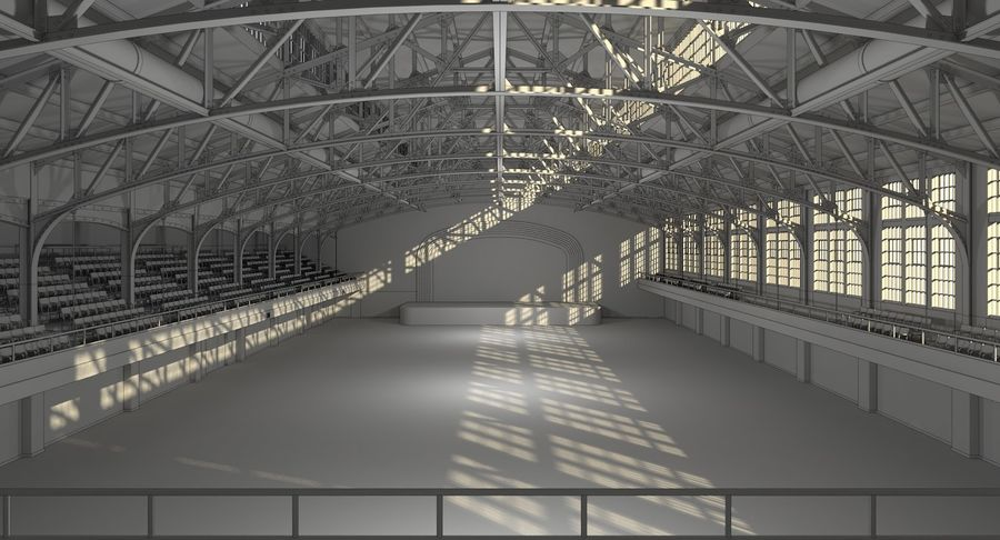Fitnessstudio Interieur royalty-free 3d model - Preview no. 10