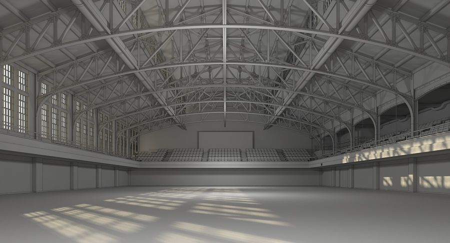 Fitnessstudio Interieur royalty-free 3d model - Preview no. 12