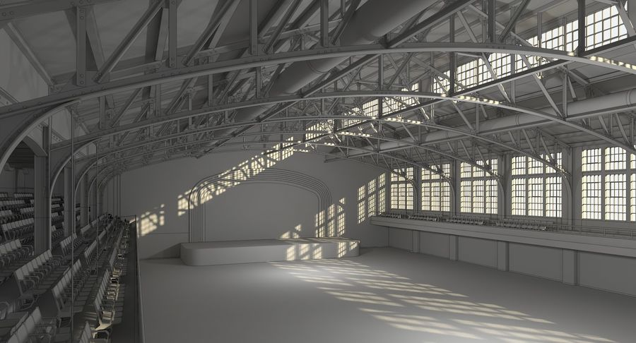 Fitnessstudio Interieur royalty-free 3d model - Preview no. 15