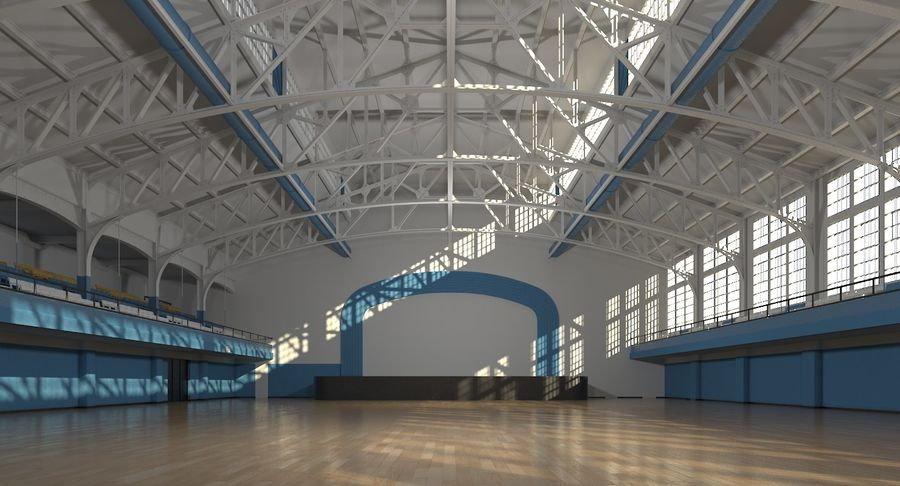 Fitnessstudio Interieur royalty-free 3d model - Preview no. 6