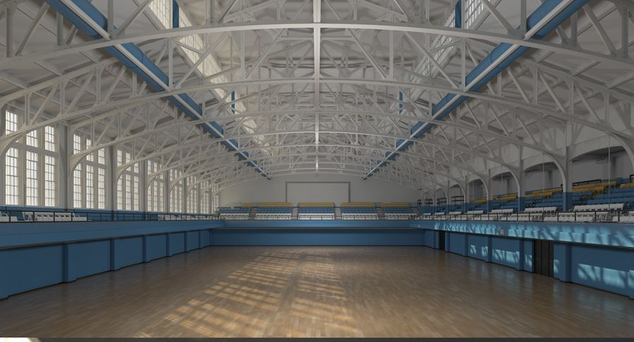 Fitnessstudio Interieur royalty-free 3d model - Preview no. 4