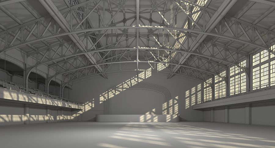 Fitnessstudio Interieur royalty-free 3d model - Preview no. 13