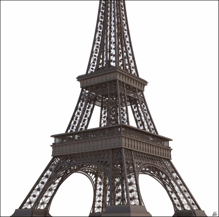 Tour Eiffel (Eiffel Tower), Paris royalty-free 3d model - Preview no. 1