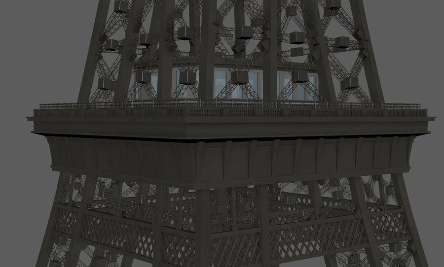 Tour Eiffel (Eiffel Tower), Paris royalty-free 3d model - Preview no. 15