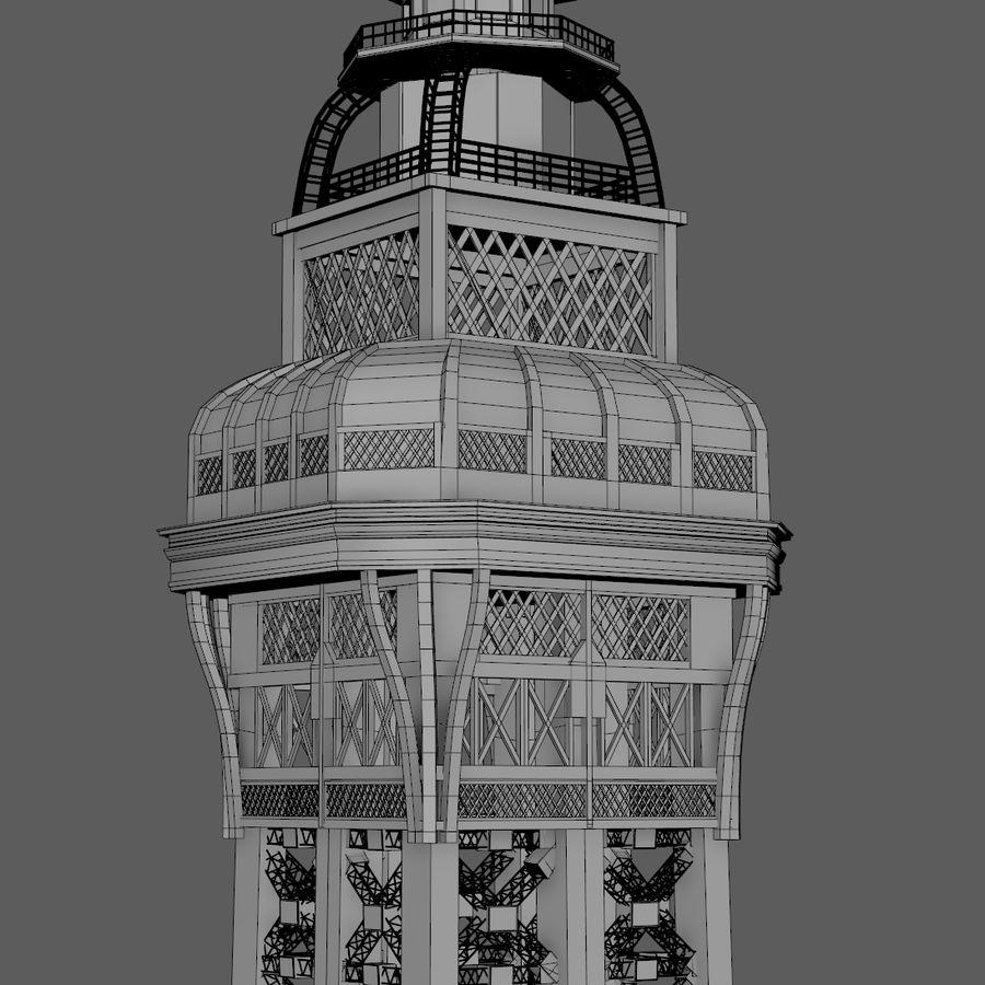 Tour Eiffel (Eiffel Tower), Paris royalty-free 3d model - Preview no. 18