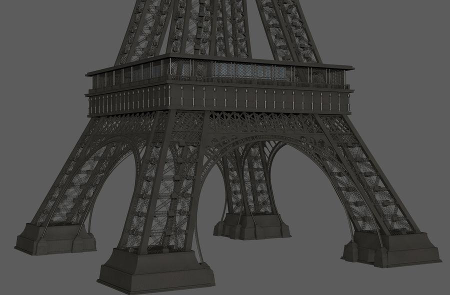 Tour Eiffel (Eiffel Tower), Paris royalty-free 3d model - Preview no. 11