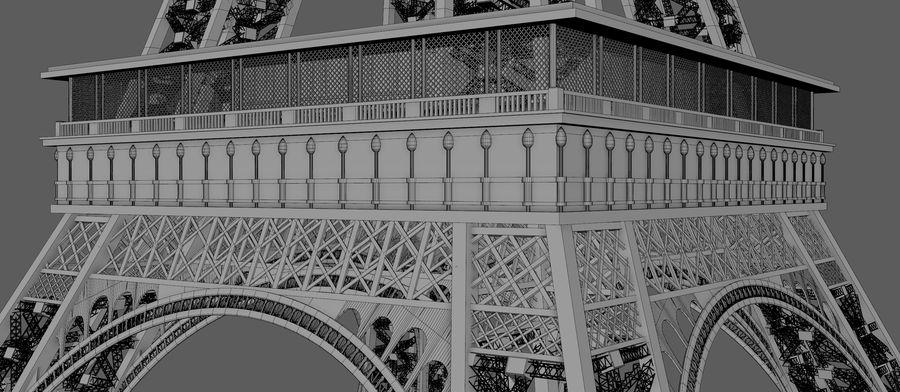 Tour Eiffel (Eiffel Tower), Paris royalty-free 3d model - Preview no. 14