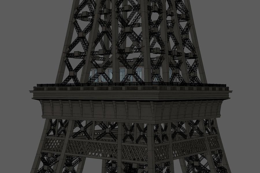 Tour Eiffel (Eiffel Tower), Paris royalty-free 3d model - Preview no. 21