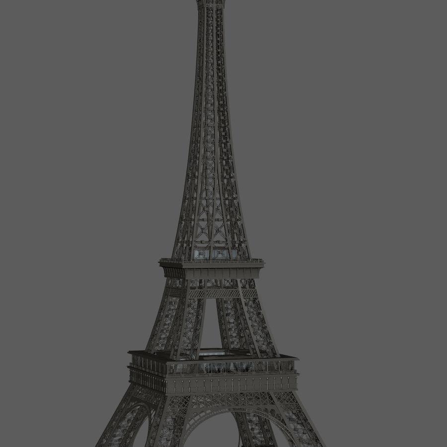 Tour Eiffel (Eiffel Tower), Paris royalty-free 3d model - Preview no. 9