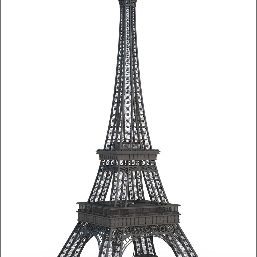 Tour Eiffel (Eiffel Tower), Paris royalty-free 3d model - Preview no. 2