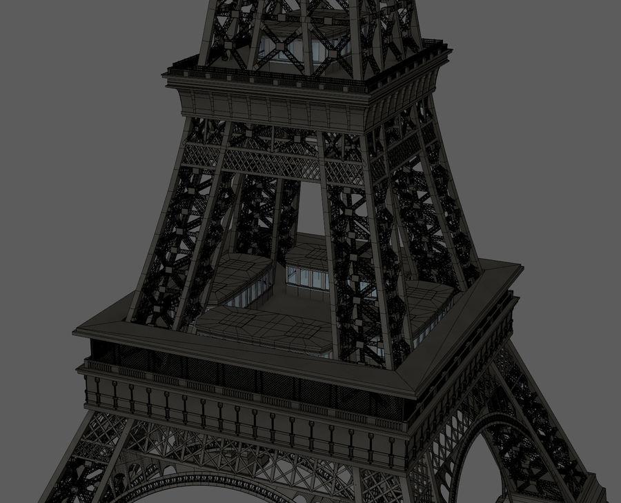 Tour Eiffel (Eiffel Tower), Paris royalty-free 3d model - Preview no. 20