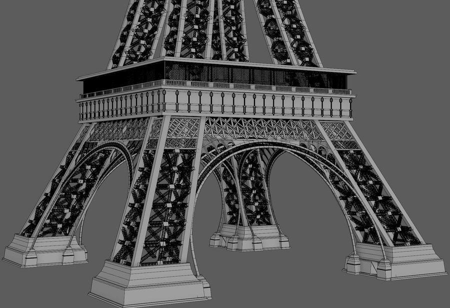 Tour Eiffel (Eiffel Tower), Paris royalty-free 3d model - Preview no. 12