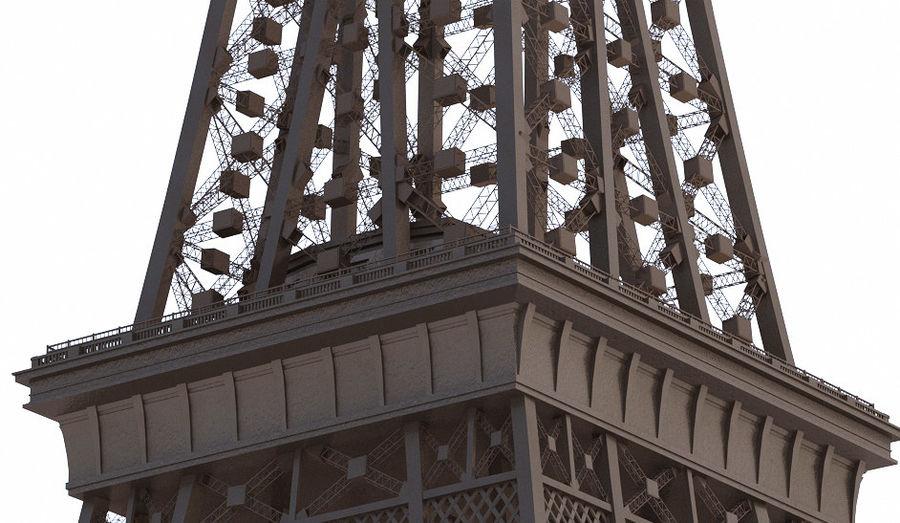 Tour Eiffel (Eiffel Tower), Paris royalty-free 3d model - Preview no. 6