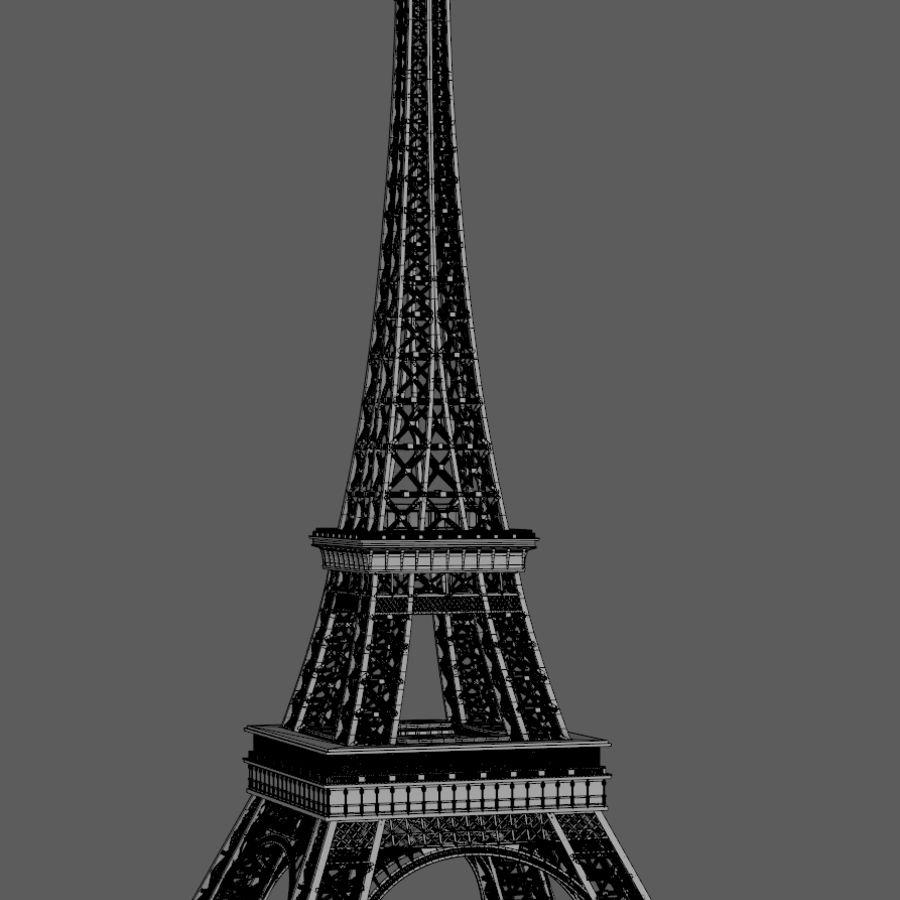 Tour Eiffel (Eiffel Tower), Paris royalty-free 3d model - Preview no. 10