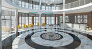 Moderne lobby (1) 3d model