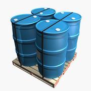 Pallet & Barrels 3d model