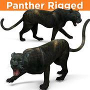 Black Panther Rigged 3d model