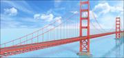 Golden Gate Bridge, San Francisco, California, U.S. 3d model