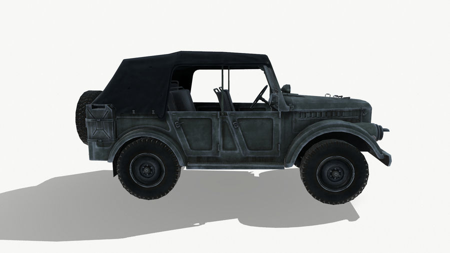 Gaz 69A royalty-free 3d model - Preview no. 8