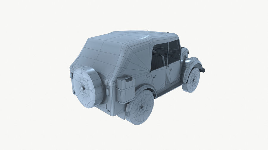 Gaz 69A royalty-free 3d model - Preview no. 15