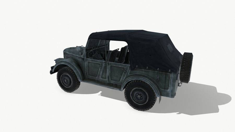 Gaz 69A royalty-free 3d model - Preview no. 5