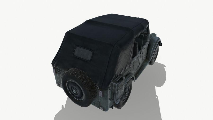 Gaz 69A royalty-free 3d model - Preview no. 13