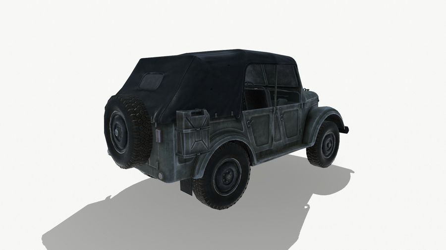 Gaz 69A royalty-free 3d model - Preview no. 7