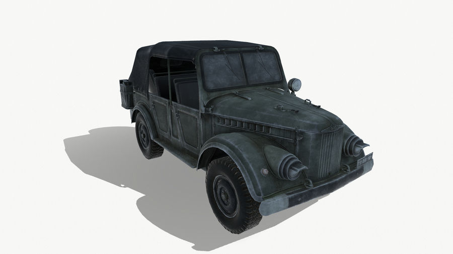 Gaz 69A royalty-free 3d model - Preview no. 9