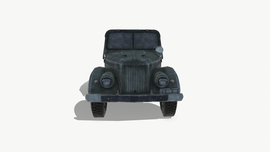 Gaz 69A royalty-free 3d model - Preview no. 3