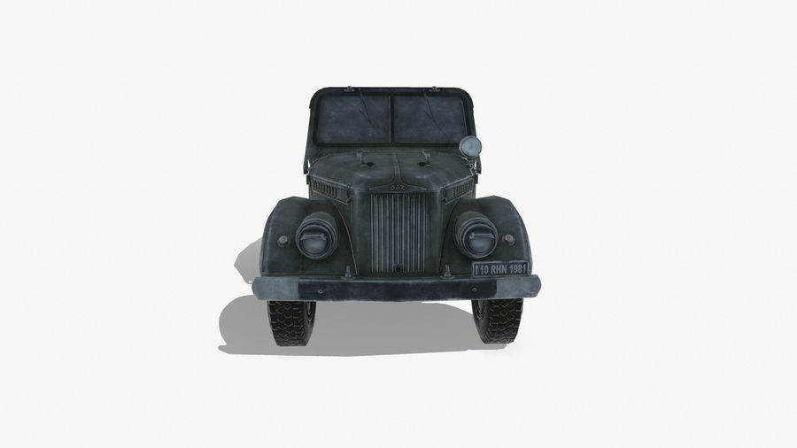 Gaz 69A royalty-free 3d model - Preview no. 3