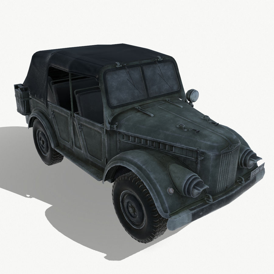 Gaz 69A royalty-free 3d model - Preview no. 1