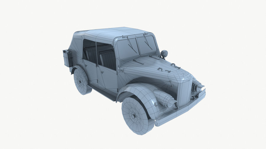 Gaz 69A royalty-free 3d model - Preview no. 14