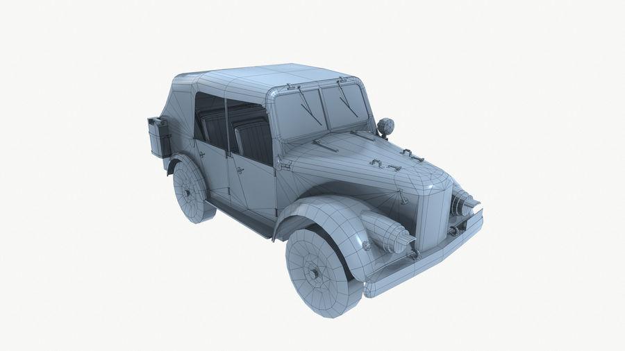 Gaz 69A royalty-free 3d model - Preview no. 14