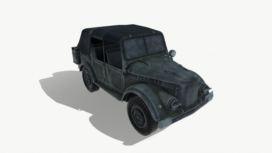 Gaz 69A royalty-free 3d model - Preview no. 2