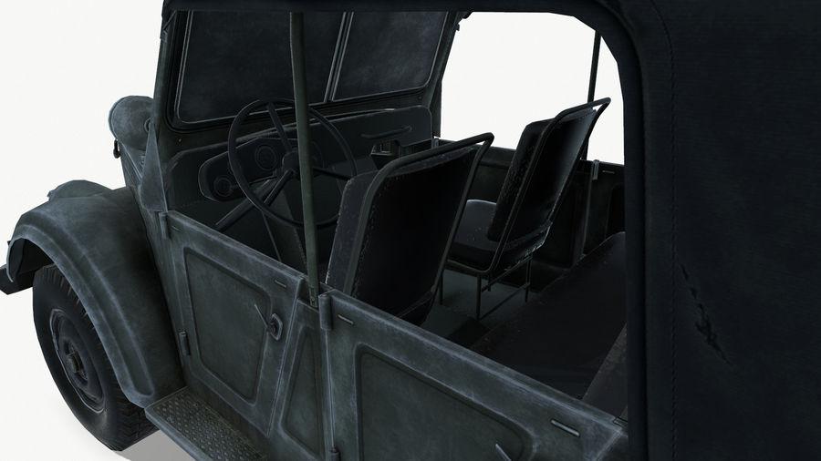 Gaz 69A royalty-free 3d model - Preview no. 12