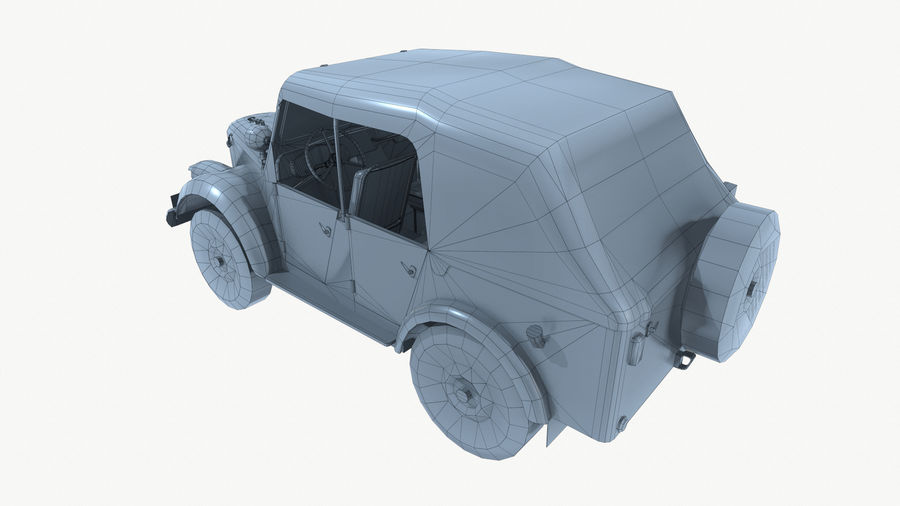 Gaz 69A royalty-free 3d model - Preview no. 16