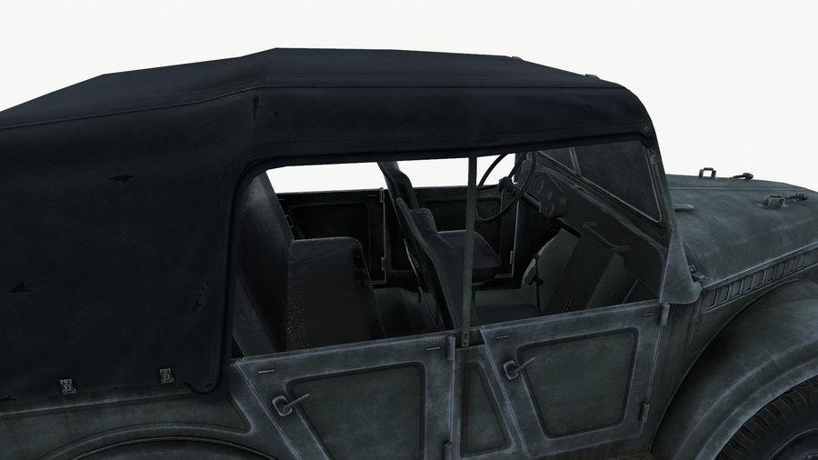 Gaz 69A royalty-free 3d model - Preview no. 11