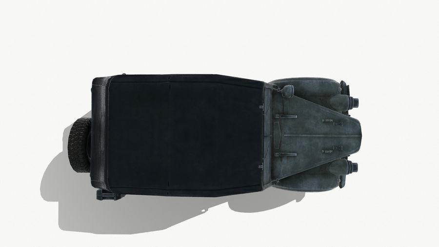 Gaz 69A royalty-free 3d model - Preview no. 10
