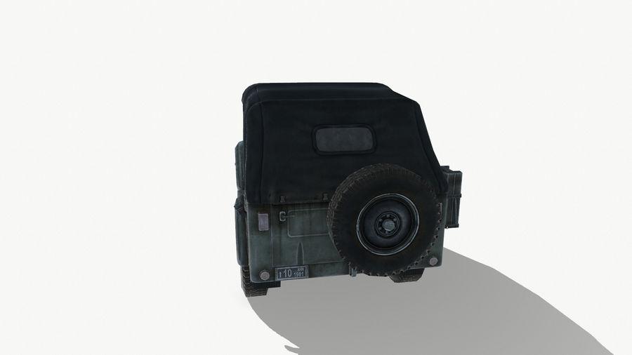 Gaz 69A royalty-free 3d model - Preview no. 6