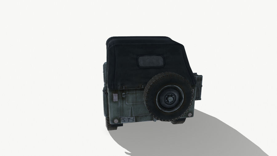 Gaz 69A royalty-free 3d model - Preview no. 6