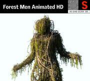 Forest Men Geanimeerde HD 3d model