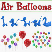Air Balloons 3D Models Collection 3d model