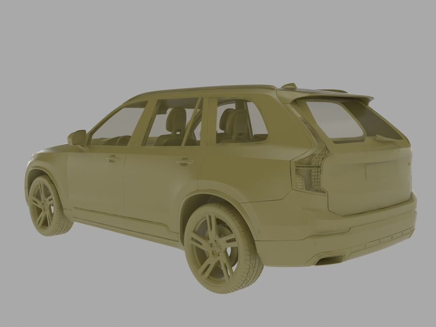 Volvo XC90 royalty-free 3d model - Preview no. 6