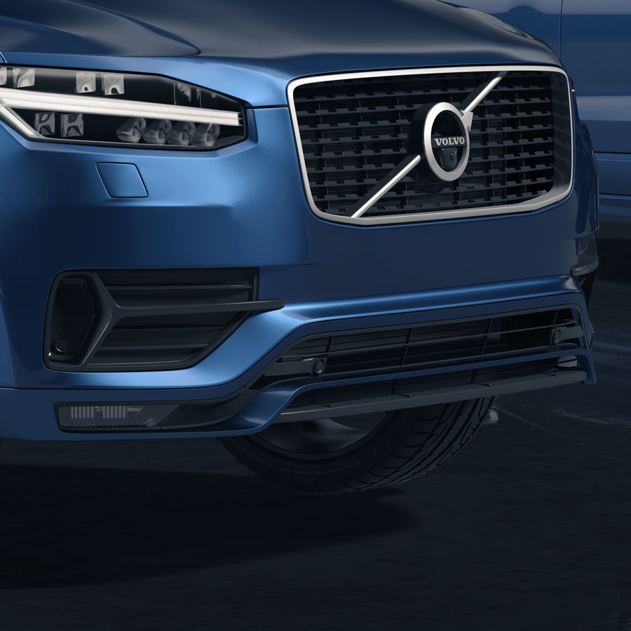 Volvo XC90 royalty-free 3d model - Preview no. 3